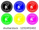 sulawesi   rubber stamp  ... | Shutterstock .eps vector #1252492402