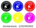 sulawesi   rubber stamp  ... | Shutterstock .eps vector #1252492402