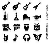 music icons | Shutterstock .eps vector #125249828