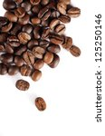 Brown Coffee Beans Isolated On...