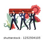 funeral ceremony people... | Shutterstock .eps vector #1252504105