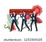 funeral ceremony people... | Shutterstock .eps vector #1252504105