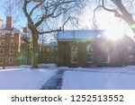 Stock photo harvard university historic building in cambridge at massachusetts 1252513552