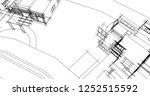 modern house architecture 3d... | Shutterstock . vector #1252515592