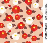 Seamless Pattern Of Camellia...