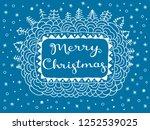 merry christmas gift card....   Shutterstock .eps vector #1252539025