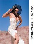 sexy brunette girl wearing... | Shutterstock . vector #12525454