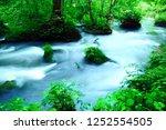 "tourist attraction ""oirase... | Shutterstock . vector #1252554505"