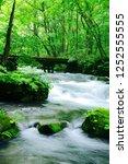 "tourist attraction ""oirase... | Shutterstock . vector #1252555555"