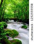 "tourist attraction ""oirase... | Shutterstock . vector #1252555558"