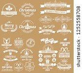 christmas background vector... | Shutterstock .eps vector #1252558708