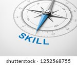 magnetic compass with needle... | Shutterstock . vector #1252568755