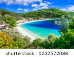best beaches of skopelos island ... | Shutterstock . vector #1252572088