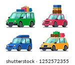 travel cars. car with tourism... | Shutterstock . vector #1252572355