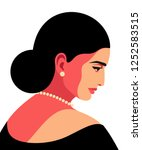 abstract female portrait in... | Shutterstock .eps vector #1252583515