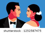 couple in love  lady and... | Shutterstock .eps vector #1252587475