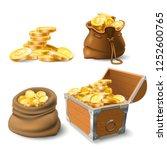 golden coins stacks. coin in... | Shutterstock .eps vector #1252600765