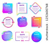 quote info box. text remark... | Shutterstock .eps vector #1252600768