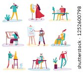 creative profession artist.... | Shutterstock .eps vector #1252600798
