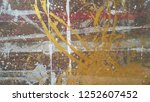 paint on plywood surface  ... | Shutterstock . vector #1252607452