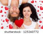 love valentine day couple... | Shutterstock . vector #125260772