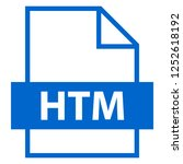 filename extension icon htm or... | Shutterstock .eps vector #1252618192