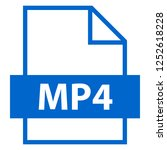 filename extension icon mp4... | Shutterstock .eps vector #1252618228