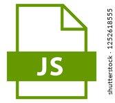 filename extension icon js java ... | Shutterstock .eps vector #1252618555