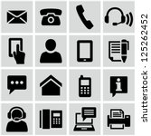 contact us icons set | Shutterstock .eps vector #125262452