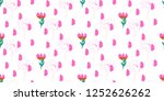 seamless flowers pattern with... | Shutterstock .eps vector #1252626262