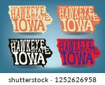 iowa map with nickname the... | Shutterstock .eps vector #1252626958