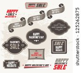 set of valentine's sale banners ... | Shutterstock .eps vector #125262875