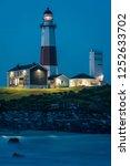 montauk lighthouse  at night ... | Shutterstock . vector #1252633702