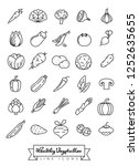 collection of vegetables... | Shutterstock .eps vector #1252635655