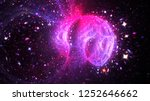 Abstract Fantastic Galaxy With...