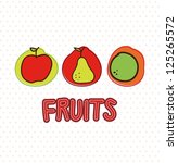 fruits drawing over white... | Shutterstock .eps vector #125265572