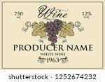 vintage label for wine bottles... | Shutterstock .eps vector #1252674232