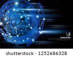 abstract technology concept... | Shutterstock .eps vector #1252686328