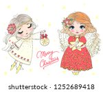 hand drawn beautiful cute... | Shutterstock .eps vector #1252689418