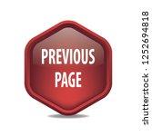 previous page vector button ...   Shutterstock .eps vector #1252694818