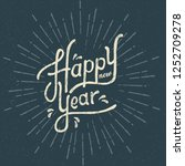 happy new year vector typography   Shutterstock .eps vector #1252709278