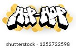 hip hop illustration in... | Shutterstock .eps vector #1252722598