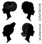 collection. silhouette of the... | Shutterstock .eps vector #1252730158
