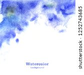 watercolor blue abstract...   Shutterstock . vector #1252743685