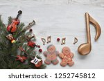 gingerbread man with music... | Shutterstock . vector #1252745812