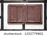 shutters on window of barn  ... | Shutterstock . vector #1252779802