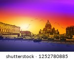 the historical center of st.... | Shutterstock .eps vector #1252780885