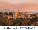 the complex of alhambra palaces ... | Shutterstock . vector #1252782682