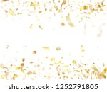 gold luminous confetti flying... | Shutterstock .eps vector #1252791805