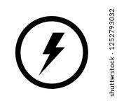 energy power vector icon on... | Shutterstock .eps vector #1252793032